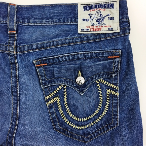 faef29656f3 True Religion Flap Pocket Straight Leg Jeans. M 5be38c051070ee29fc11b6e1